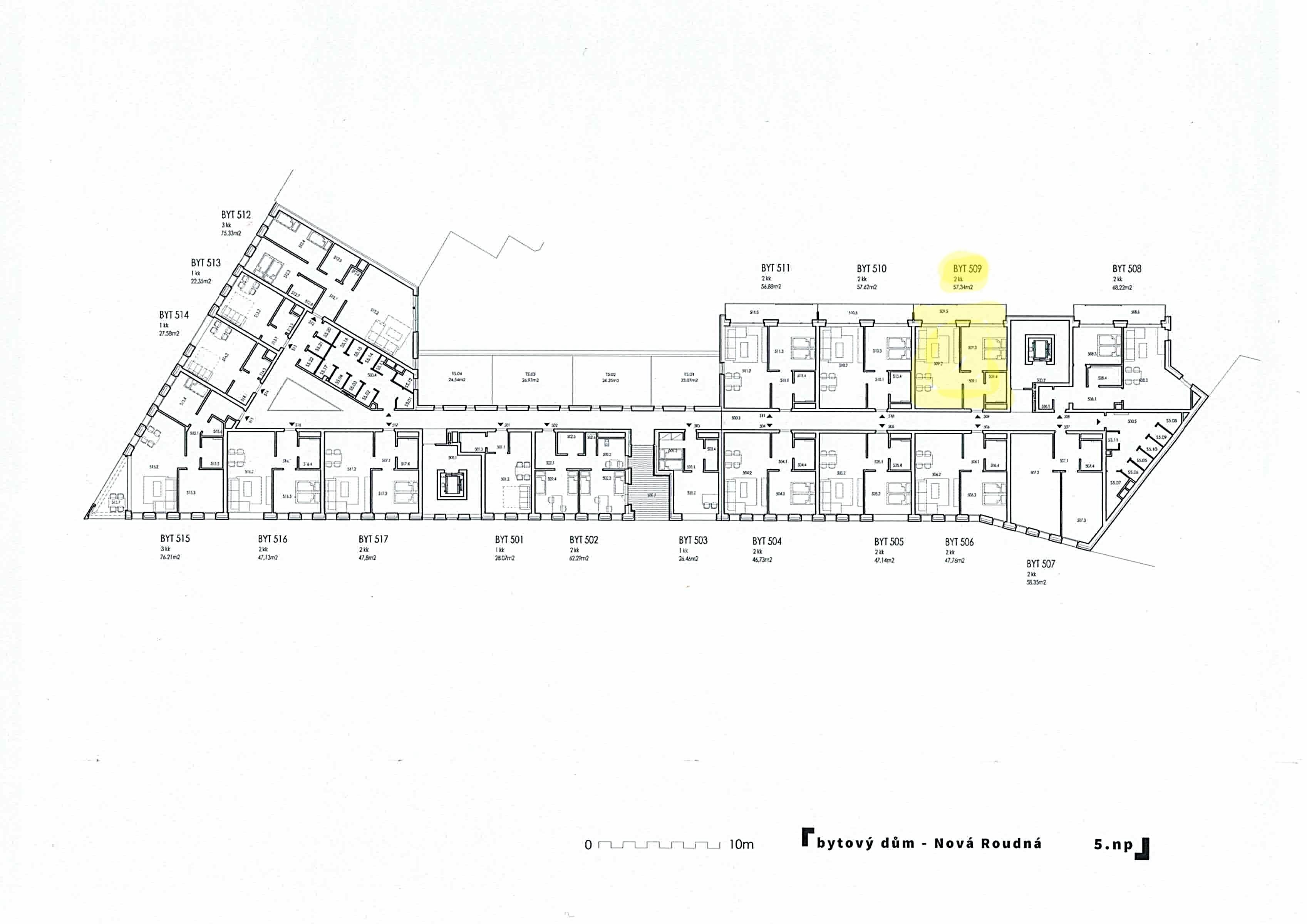 Pronájem bytu 2+KK v ulici Otýlie Beníškové Pzeň